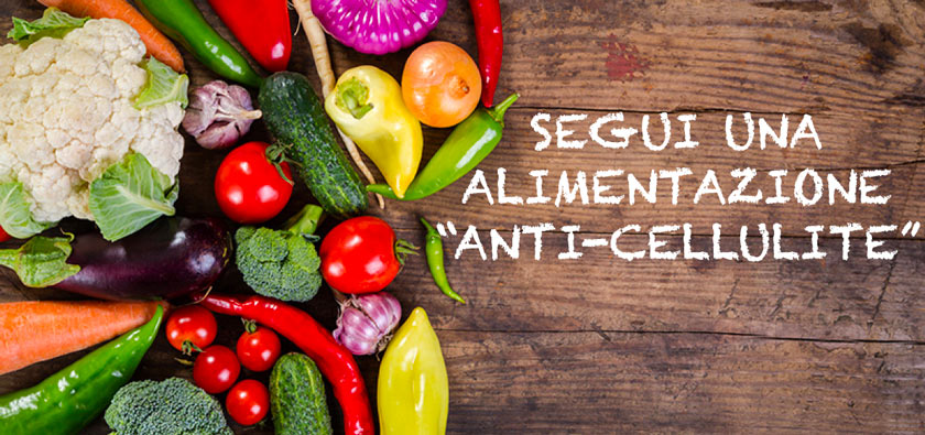 cellulite alimentazione