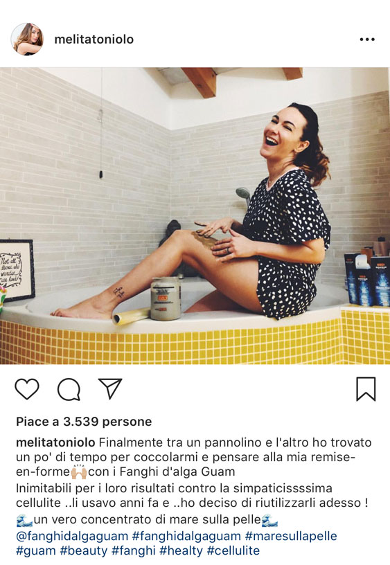 cellulite rimedi fanghi alga guam testimonianza instagram